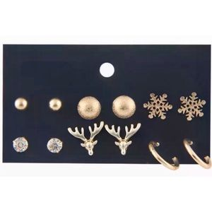 GIFT IDEA 🎁 8-Pack of Gold Holiday Stud Earrings